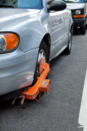 Car with a parking ticket boot, so the car can Stock Photo - 11397212