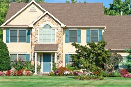 Attractive single family house in suburban Philadelphia, PA, horizontal image