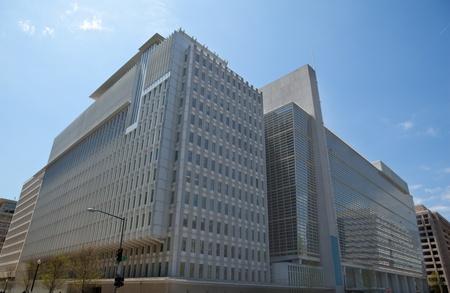 Bank Światowy: Siedziba North Side w Banku Światowym w Waszyngtonie, USA. Bardzo nowoczesny budynek, to miejsce częstych anty-globalizacyjnych protestów.
