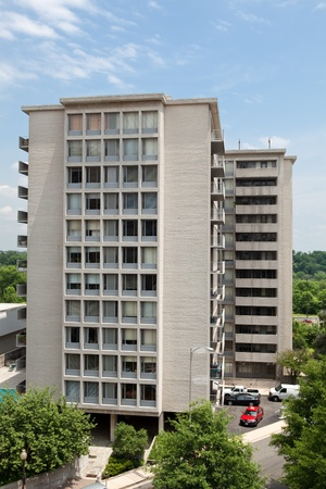 rosslyn: Modern apartment building in Rosslyn, Virginia, near Washington DC.  Vertical