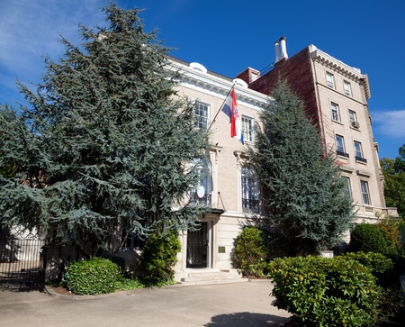 Embassay of Croatia, Washington DC Second Italianate Renaissance Revival Urban Palace Style.  Orginally private home. Stock Photo - 11379704