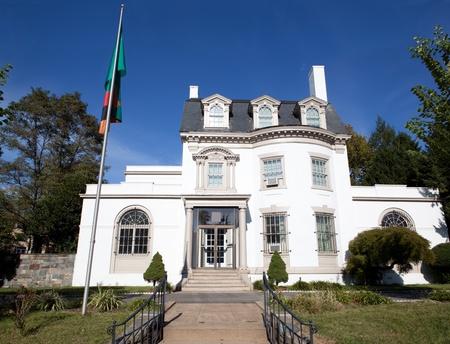 Embassy of Zambia, Washington DC, Second Empire Style Building.