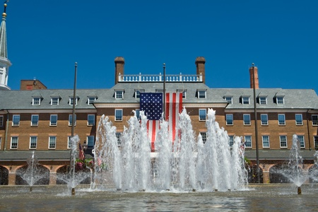 City Hall in Old Town, Alexandria, Virginia in colonial revival style.