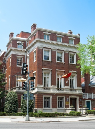 Montenegrin Embassy in Washington DC.  Architecture is Second Italian Renaissance Revival Urban Palace, formerly a private home