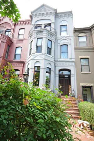 Italianate Renaissance Revival   row homes, Washington DC.  Shot with wide angle lens