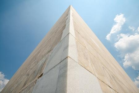 obelisk stone: Wide angle shot of the Washington Monument in Washington DC, looking up