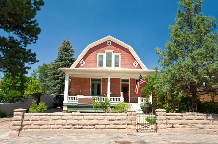 dutch: Dutch Colonial Clapboard House Home Santa Fe, New Mexico Editorial