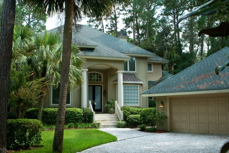 two car garage: Upscale single family house on Head Island, South Carolina.