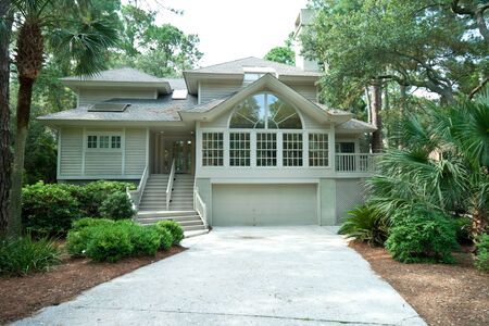 gated: Expensive and modern single family home in a gated community, Hilton Head, South Carolina.