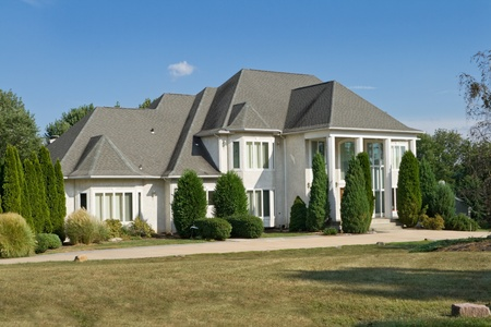 French Chateau style single family home in suburban  Philadelphia, Pennsylvania Stock Photo - 11379583