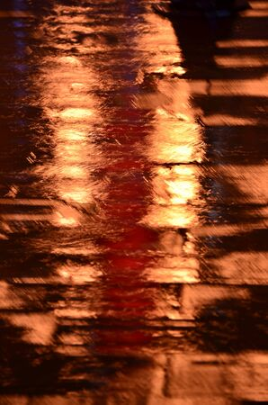 abstracted: Rainy night