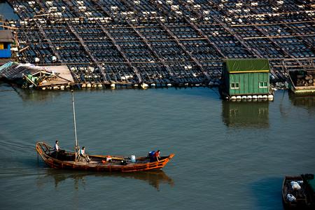 fishing village: Sea fishing village Stock Photo