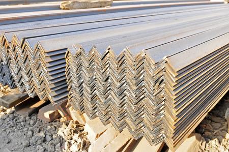 heavy industry: Angle steel, heavy industry Stock Photo