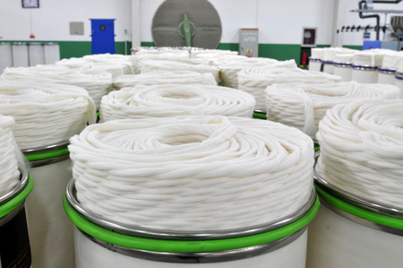 紡績生産会社における機械・装置 写真素材