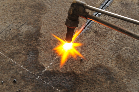 Welding sparks generated photo