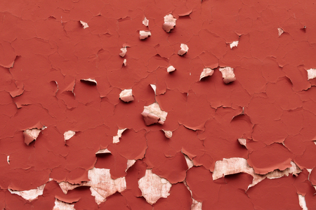 uplift: The texture of the red wall cracks and peeling paint