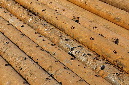 steel industry: Steel pipe, heavy industry, close-up images Stock Photo