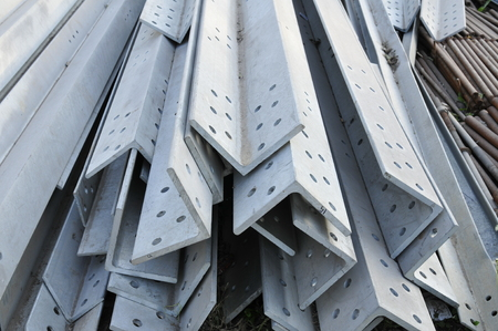 Angle steel, heavy industry, close-up pictures, taken in the market Imagens