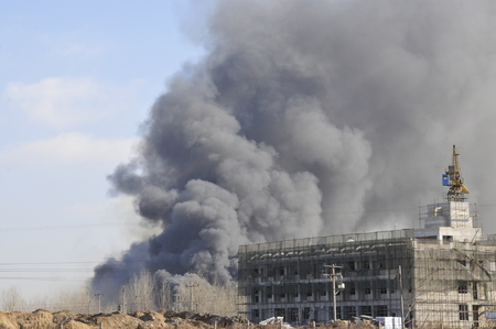 The factory was on fire