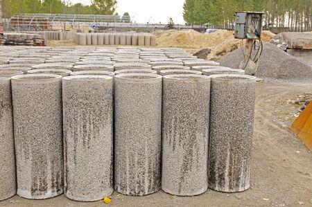 catheters: Concrete pipe Stock Photo