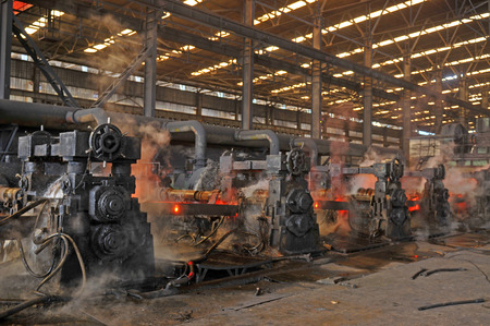 Steel processing in the modern workshop photo