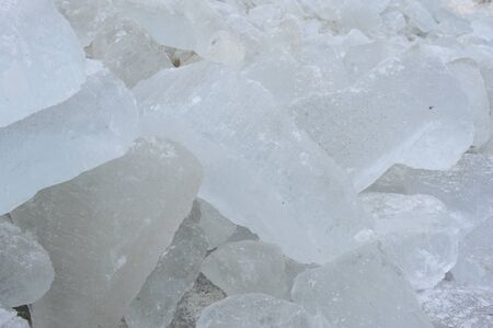 ices: pile of ices Stock Photo