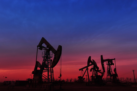 natural resource: The oil pump Stock Photo