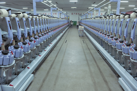 semifinished: Machinery and equipment in a spinning production company
