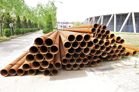 heavy industry: Steel pipe, heavy industry, close-up images Stock Photo