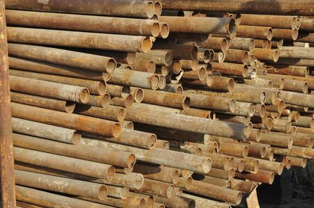 steel pipe: Steel pipe, heavy industry, close-up images Stock Photo