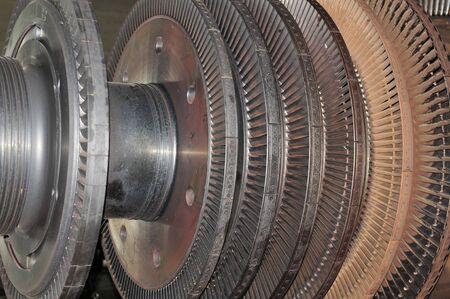 steam turbine: Industrial steam turbine at the workshop Stock Photo