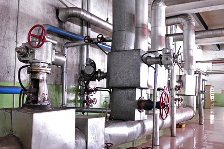 instrumentation: Thermal power plant piping and instrumentation, modern factory of the machine Editorial