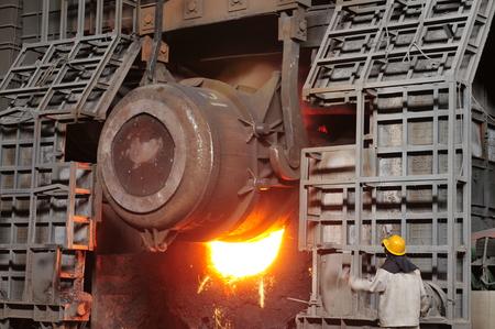 metal casting: Smelting of metal casting, steel Editorial