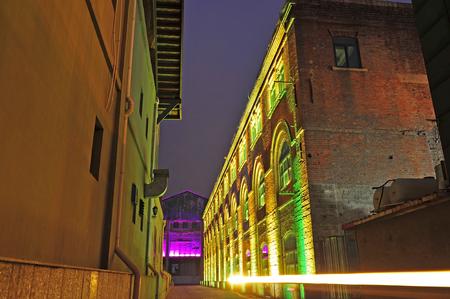 de verlaten fabriek Stockfoto
