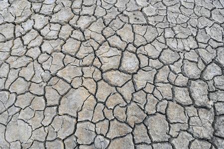 craze: Dry soil cracking Stock Photo