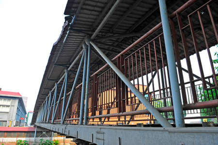 steel structure: Steel structure of the corridor