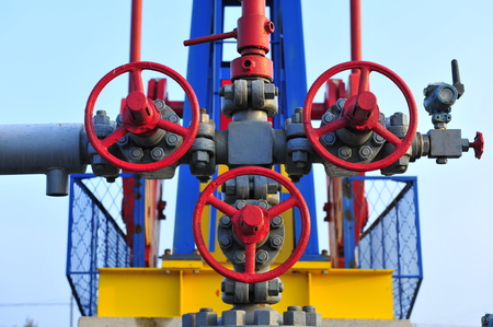 valves: Valves and piping Stock Photo