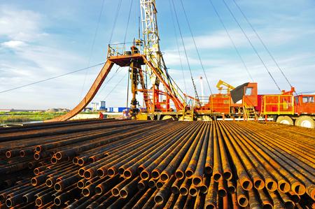 rusty: Rusty drill pipe and drill