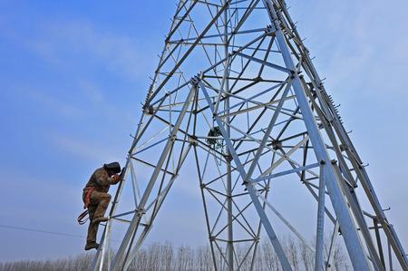 Pyloon bouwvakkers