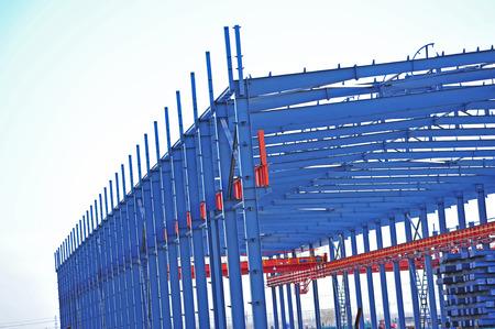 estructura: Estructura de acero taller se encuentra en construcci�n Foto de archivo