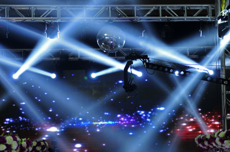 lighting effect: The stage lighting effect in the dark