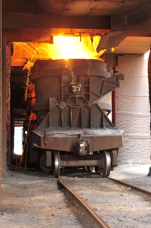 slag: Steelmaking converter steel slag in the factory