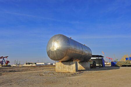 industria quimica: Tanque de reserva de petróleo