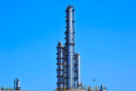 natural gas production: Industrial pipe Stock Photo