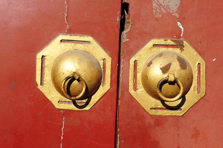 door knocker: Chinese ancient door knocker Stock Photo
