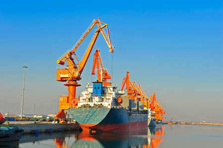 The port crane 免版税图像