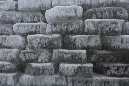 polar environment: Many ice piled up together Stock Photo