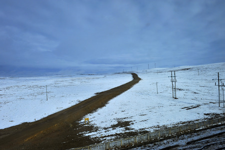 plateau: The plateau snow mountain