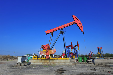 oilwell: The oil pump Stock Photo