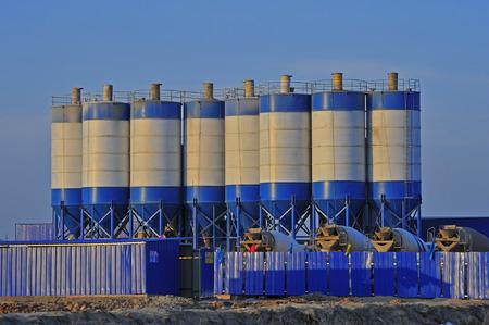 silo: Cement mixing silo Editorial